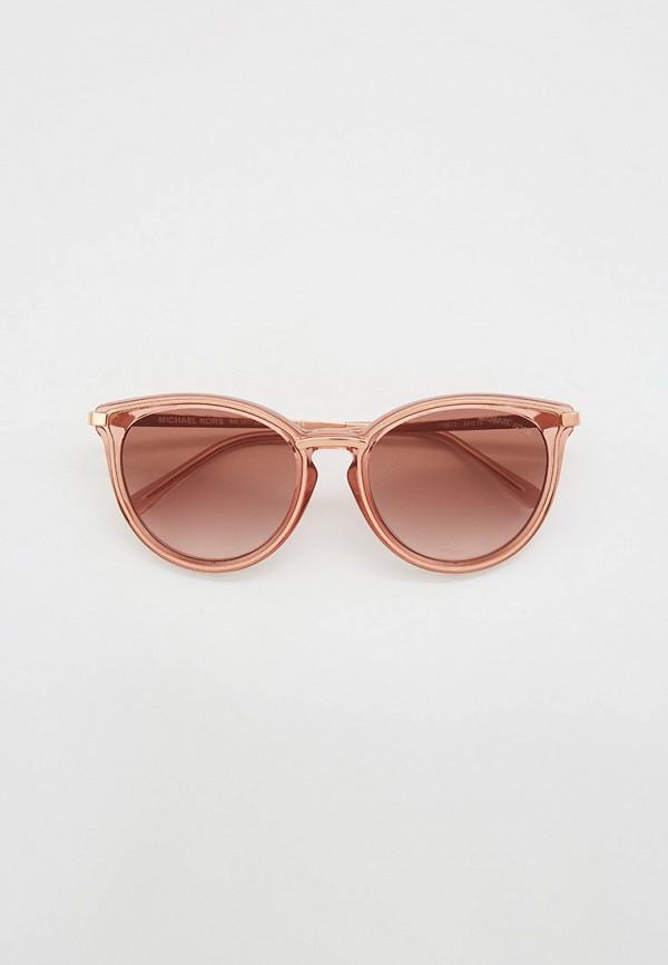 женские солнцезащитные очки кошачьи глаза michael kors, бежевые