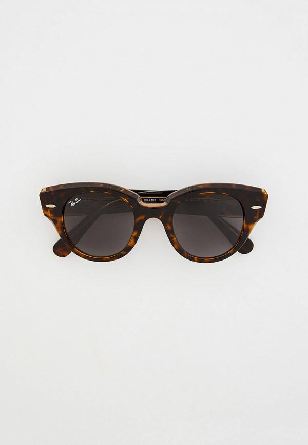 женские солнцезащитные очки кошачьи глаза ray ban, коричневые