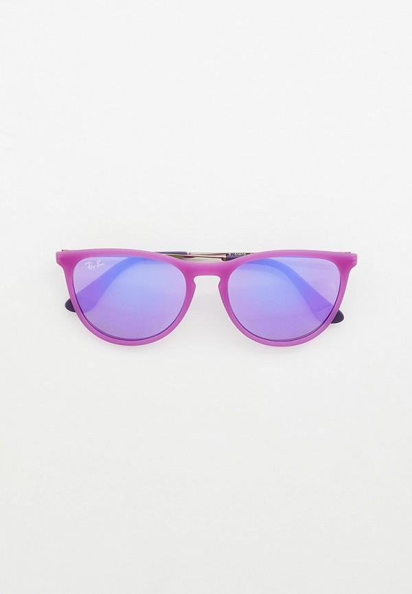 солнцезащитные очки ray ban малыши, фиолетовые