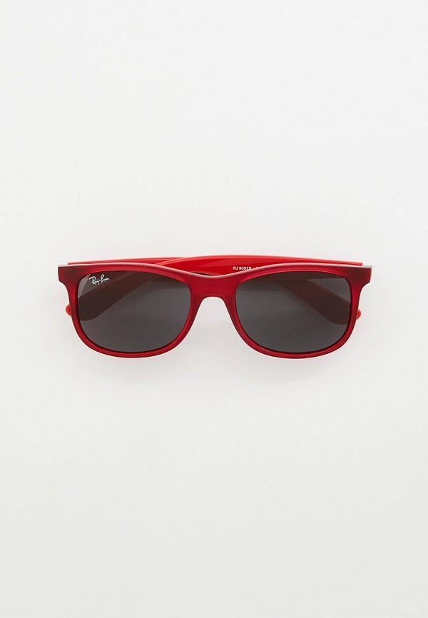 солнцезащитные очки ray ban малыши, красные