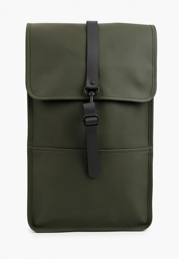 женский рюкзак rains, зеленый