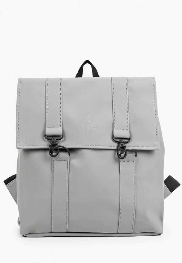 женский рюкзак rains, серый