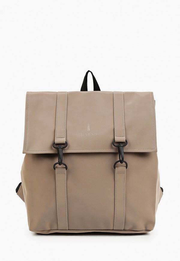 женский рюкзак rains, бежевый