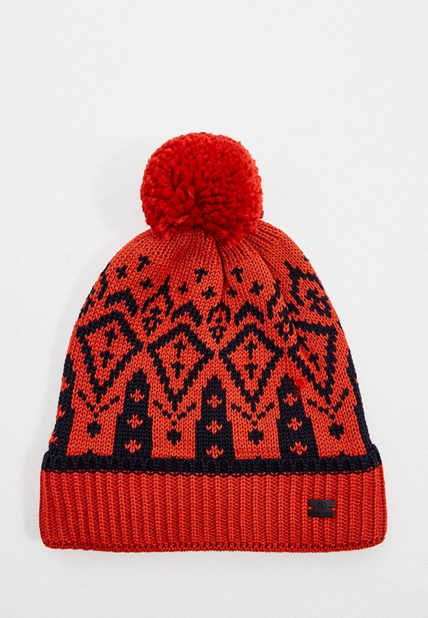 женская шапка bogner, красная