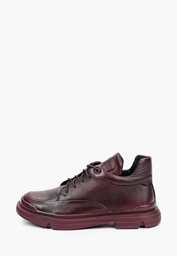 женские низкие ботинки mcm, бордовые