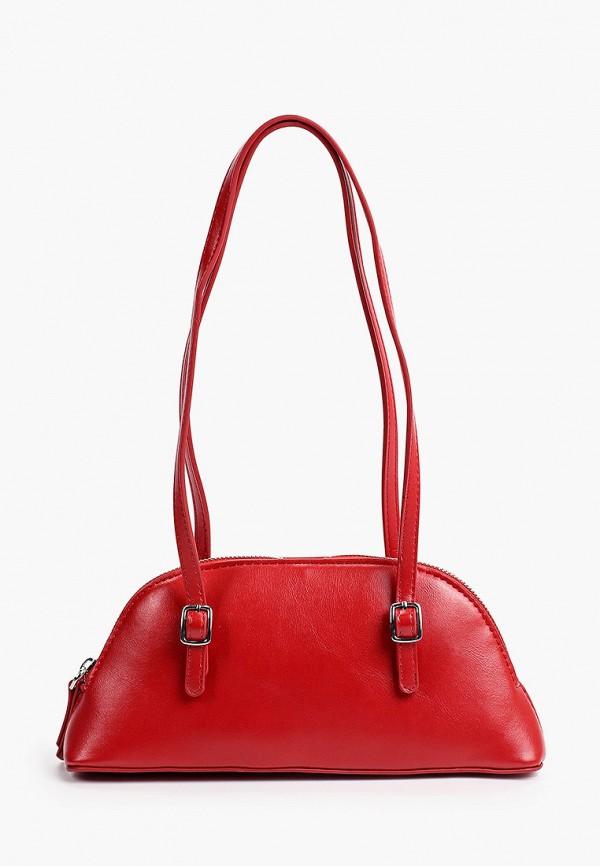 женская сумка с ручками mango, красная