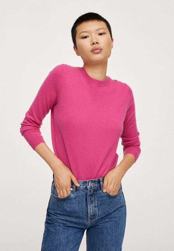 женский джемпер mango, розовый