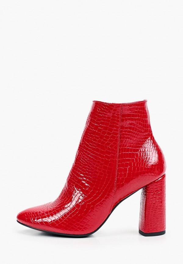 женские высокие ботильоны bosccolo, красные