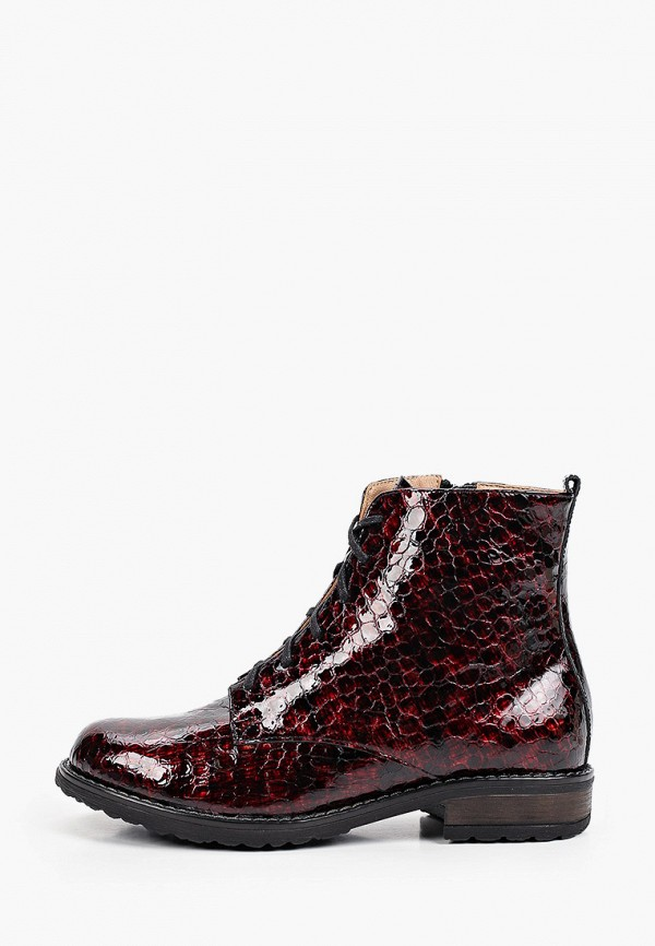 женские высокие ботинки bosccolo, бордовые