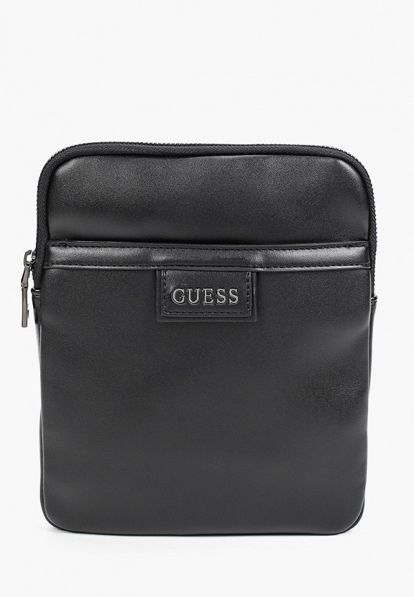 мужская сумка через плечо guess, черная