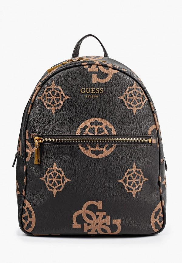 женский рюкзак guess, коричневый