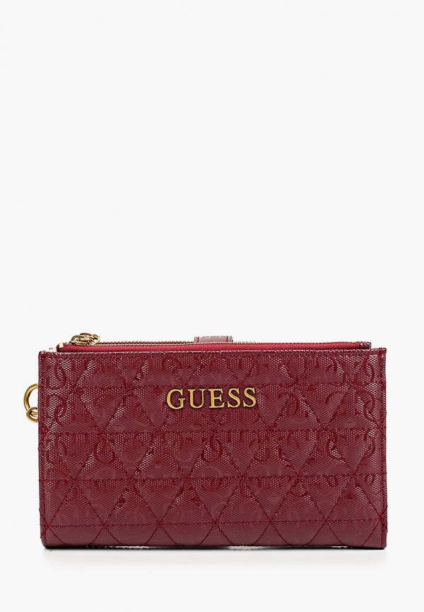 женский кошелёк guess, бордовый