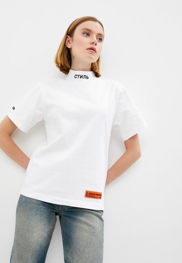 женская футболка heron preston, белая
