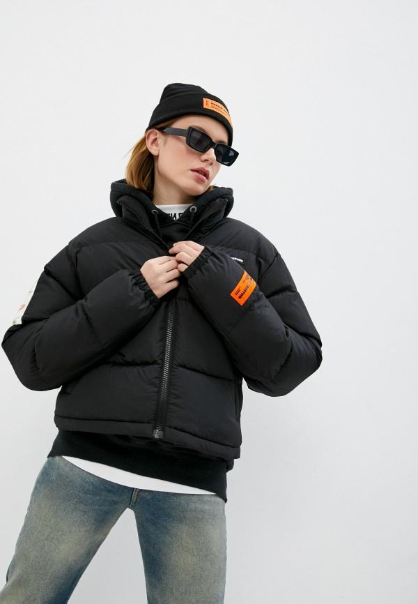 женская утепленные куртка heron preston, черная