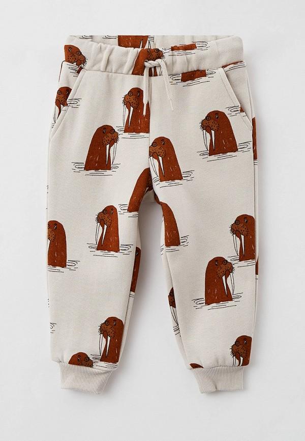 спортивные брюки mini rodini малыши, бежевые