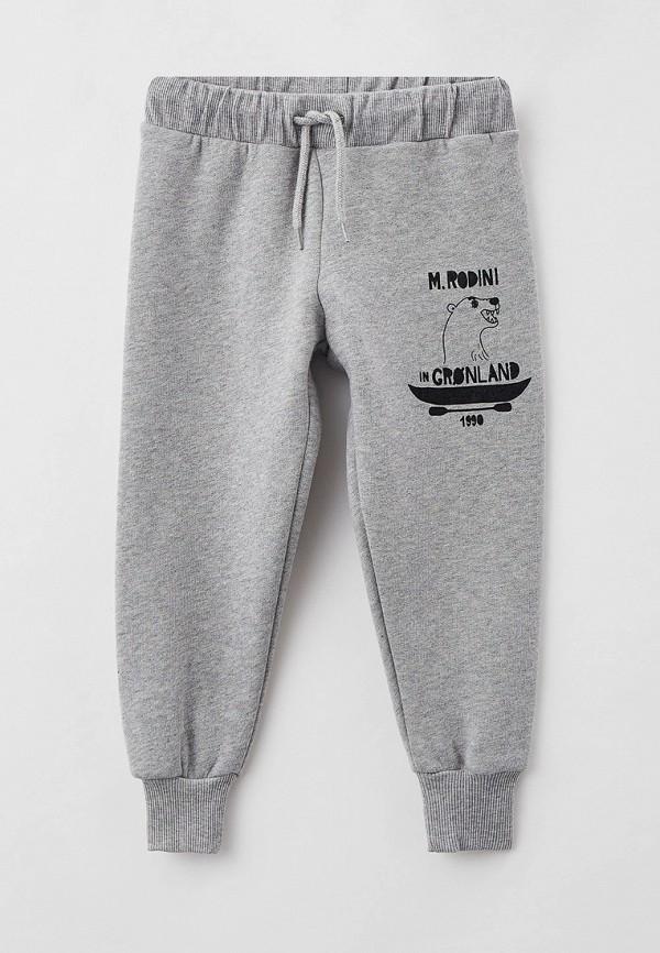 спортивные брюки mini rodini малыши, серые