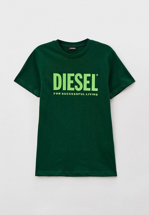 футболка с коротким рукавом diesel малыши, зеленая
