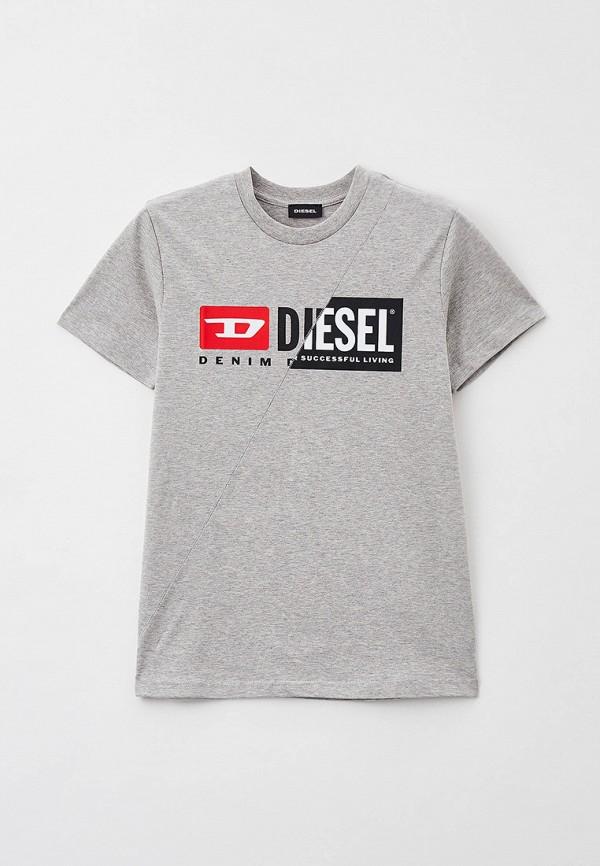 футболка с коротким рукавом diesel малыши, серая