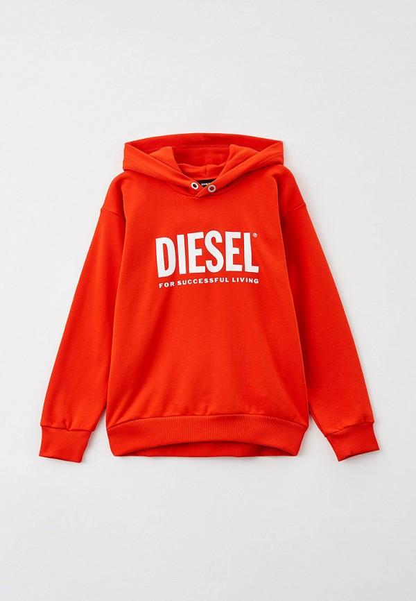 худи diesel малыши, оранжевые