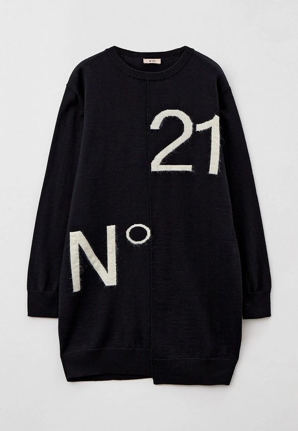 повседневные платье n21 для девочки, черное