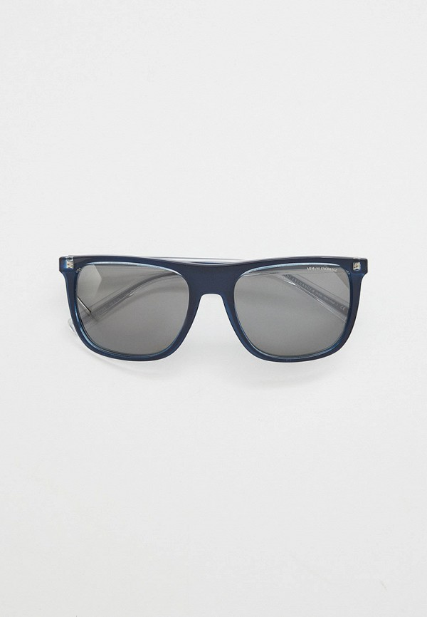 мужские квадратные солнцезащитные очки armani exchange, синие