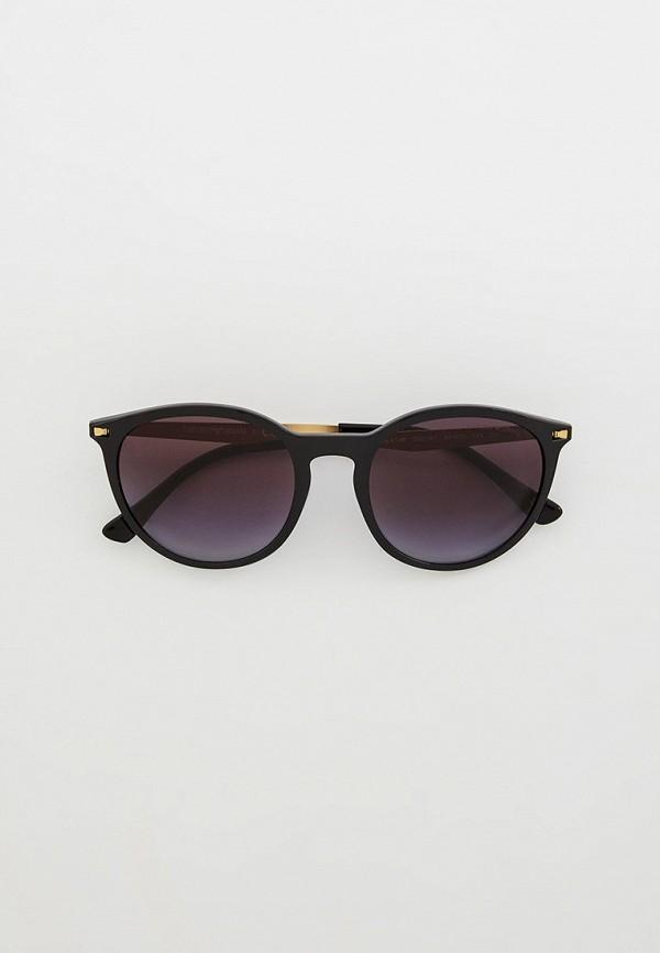женские круглые солнцезащитные очки emporio armani, черные