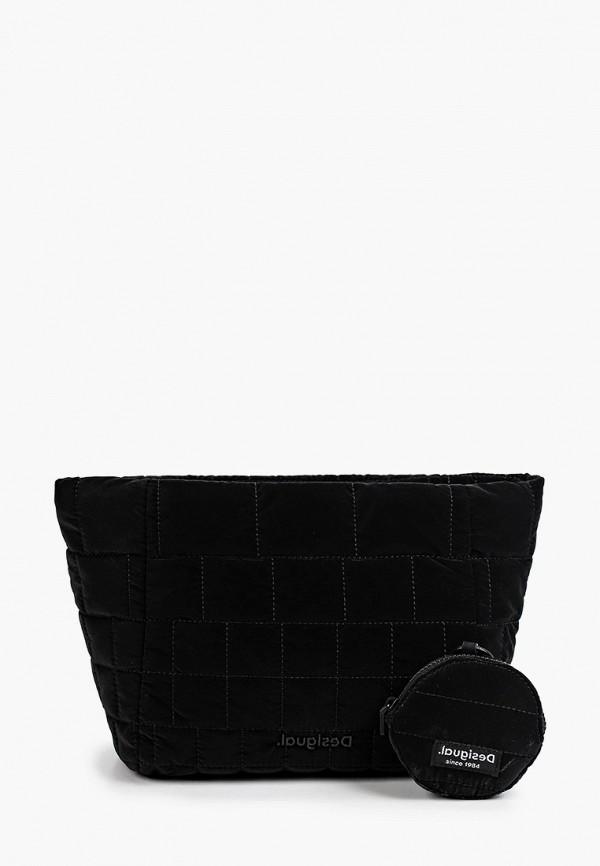 женский кошелёк через плечо desigual, черный