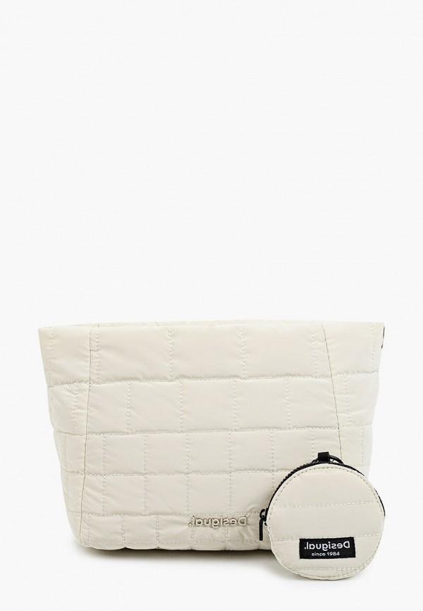 женская сумка через плечо desigual, белая