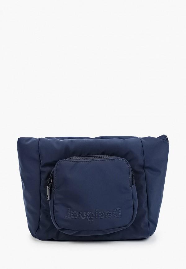 женская сумка через плечо desigual, синяя