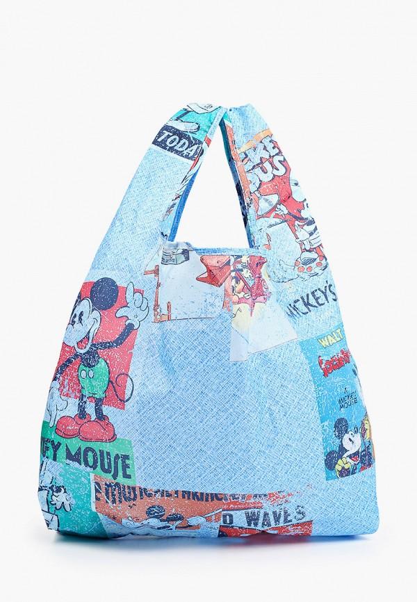 женская сумка с ручками desigual, синяя