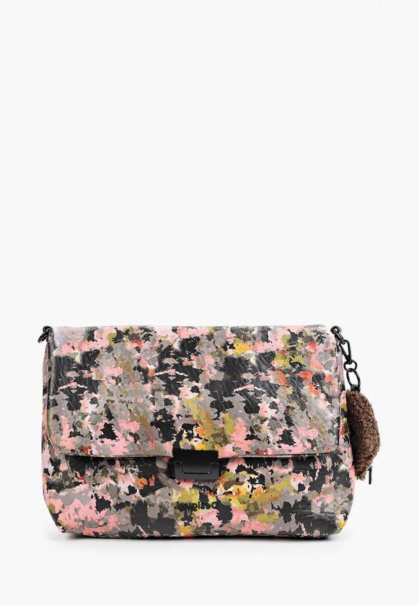 женский кошелёк через плечо desigual, разноцветный
