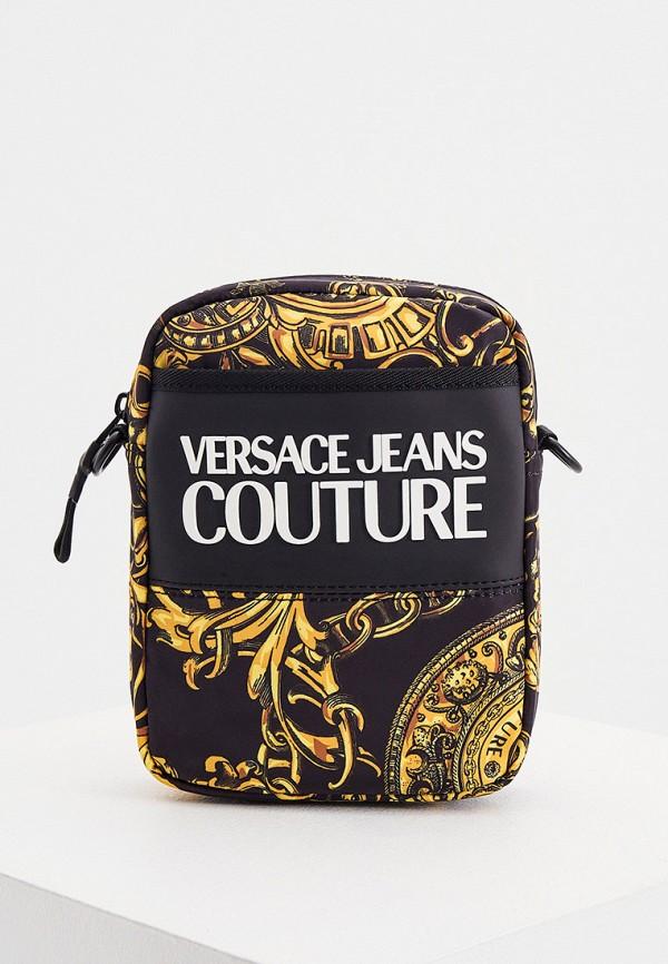 мужская сумка через плечо versace, разноцветная