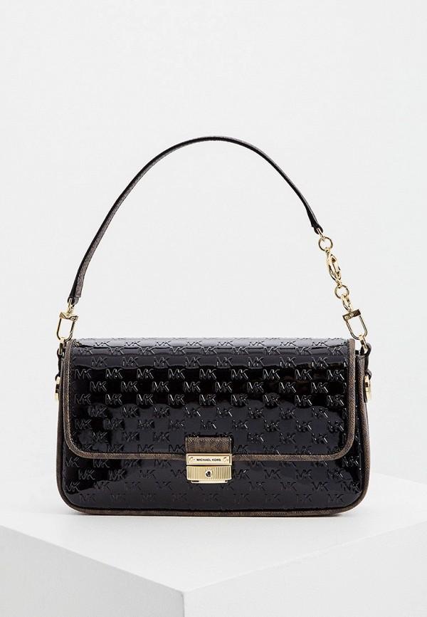 женская сумка через плечо michael kors, черная
