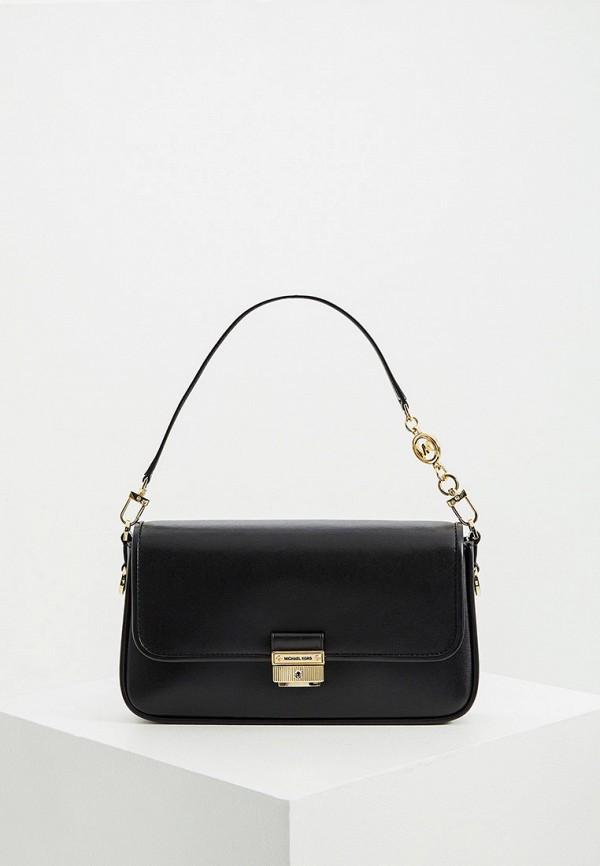 женская сумка с ручками michael kors, черная