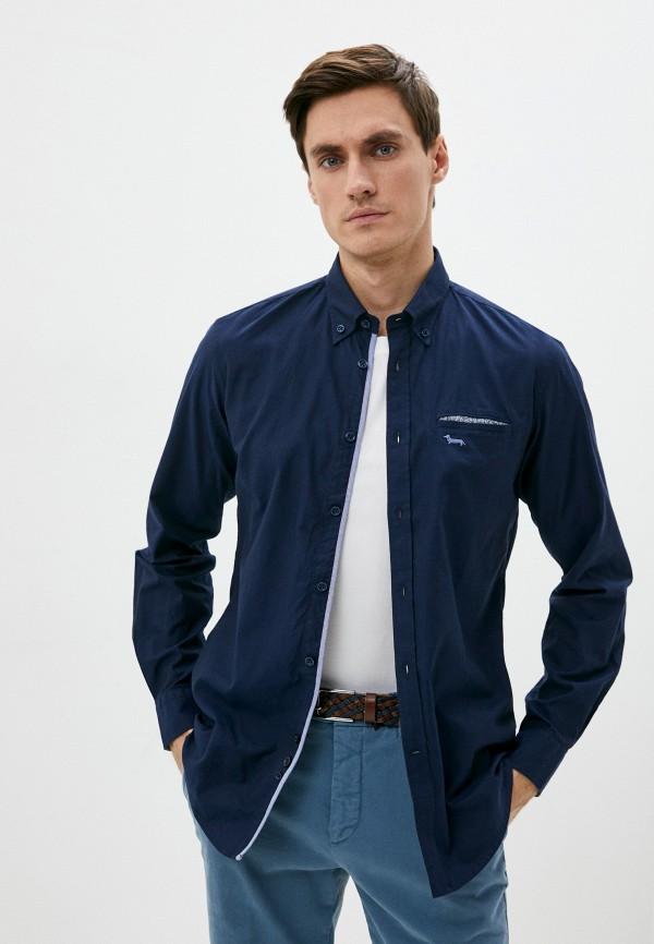 мужская рубашка с длинным рукавом harmont & blaine, синяя