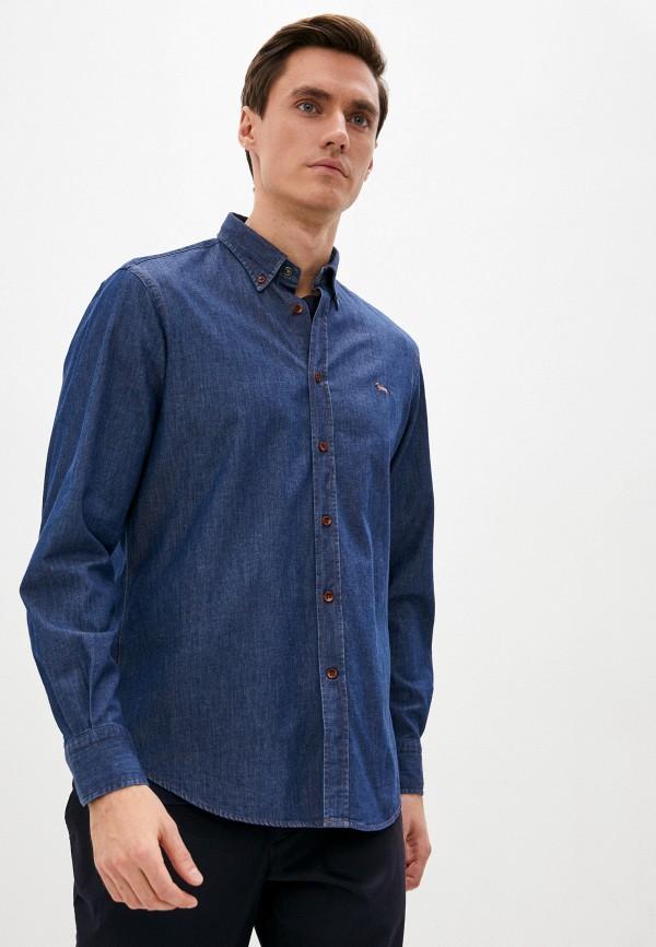 мужская джинсовые рубашка harmont & blaine, синяя