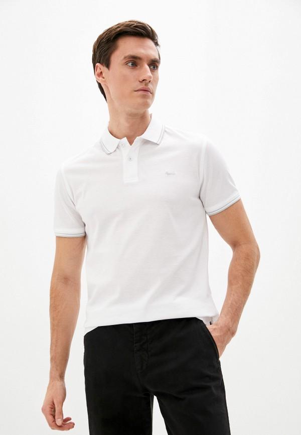 мужское поло с коротким рукавом harmont & blaine, белое
