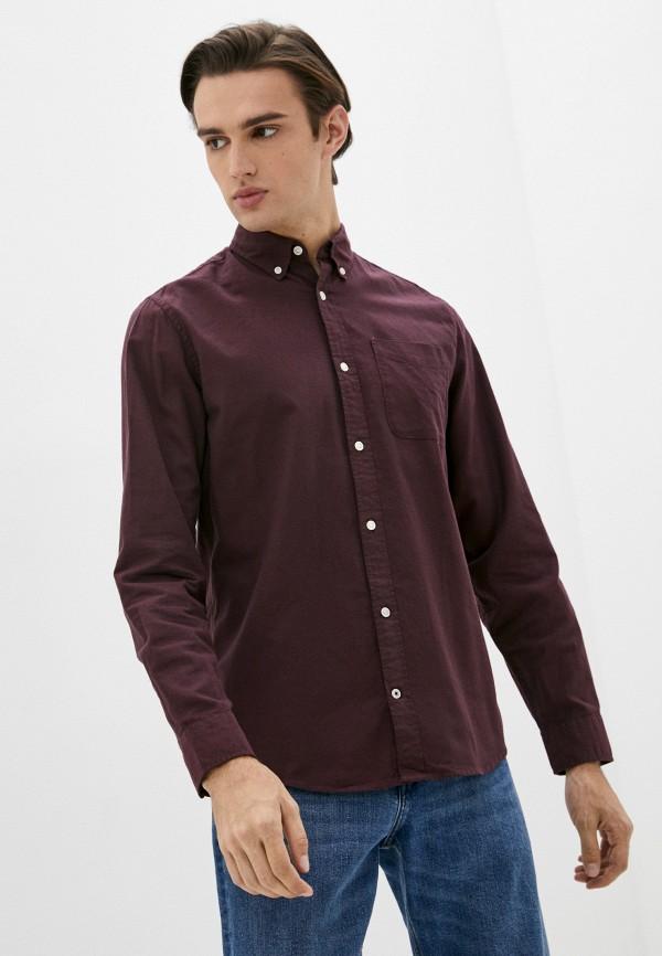 мужская рубашка с длинным рукавом produkt, бордовая