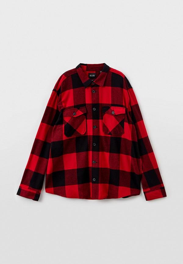 мужская рубашка с длинным рукавом only & sons, красная