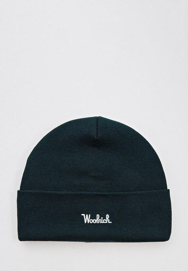 мужская шапка woolrich, зеленая
