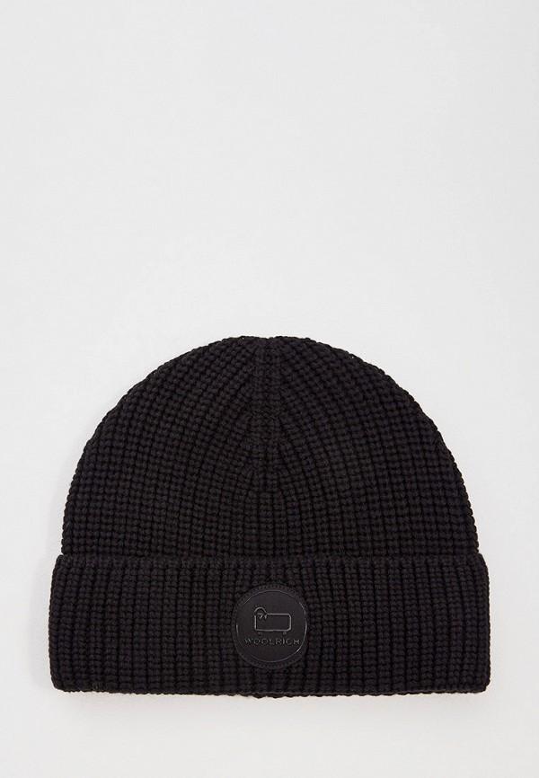мужская шапка woolrich, черная