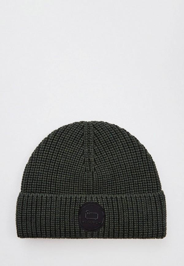 мужская шапка woolrich, хаки