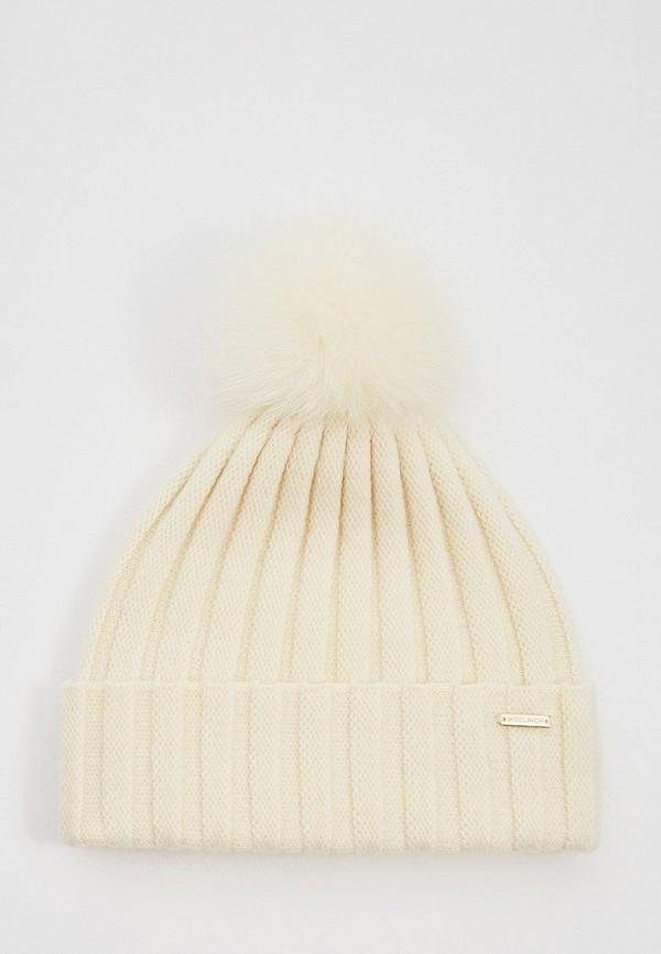 женская шапка woolrich, бежевая