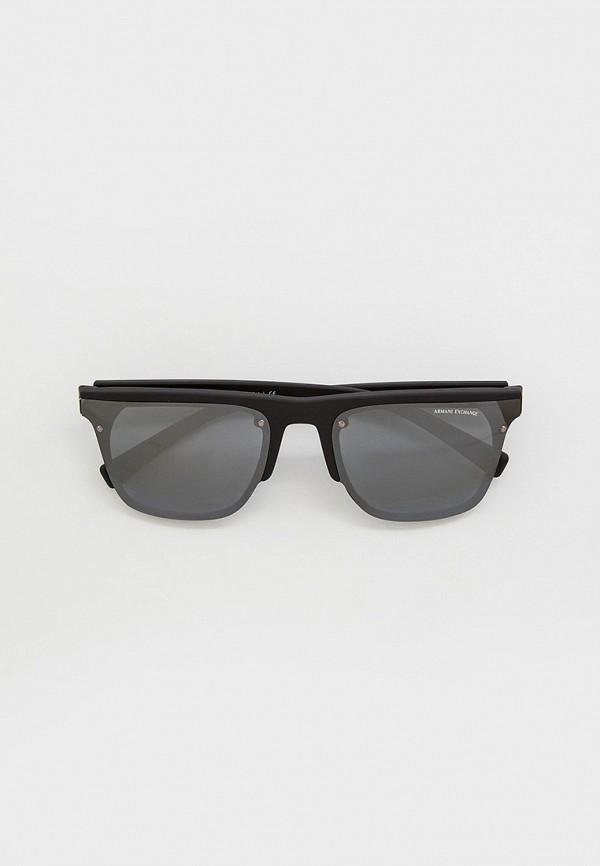 мужские квадратные солнцезащитные очки armani exchange, черные
