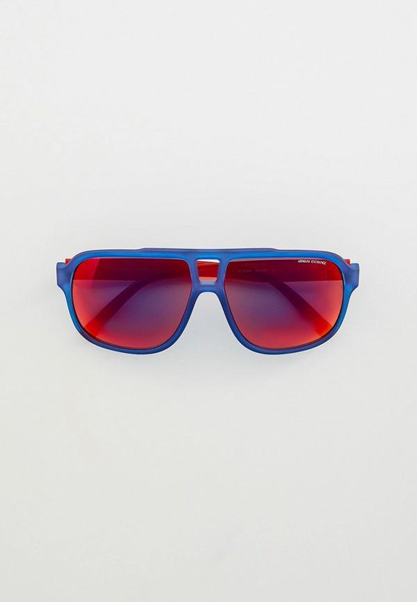 мужские авиаторы солнцезащитные очки armani exchange, синие