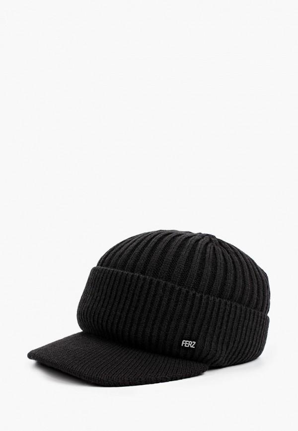 женская кепка ferz, черная