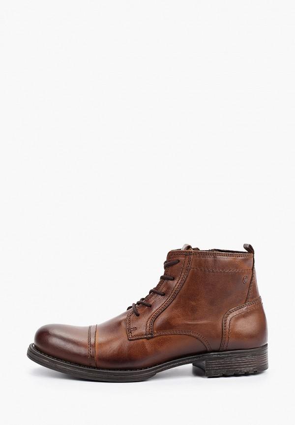 мужские высокие ботинки jack & jones, коричневые