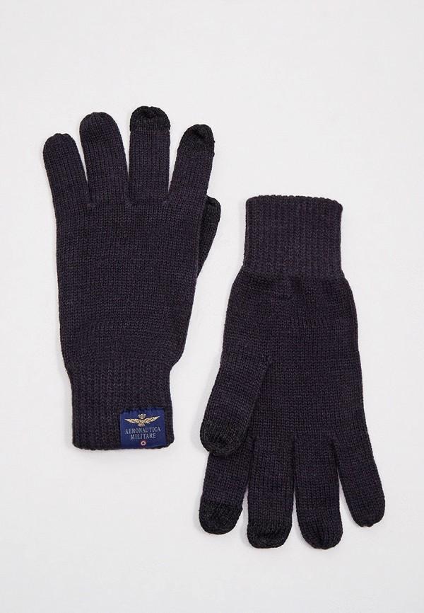 мужские текстильные перчатки aeronautica militare, синие