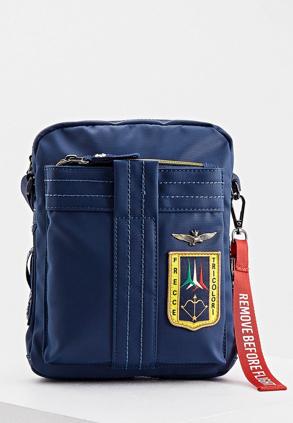 мужская сумка через плечо aeronautica militare, синяя