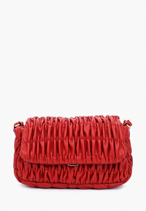 женская сумка через плечо mango, красная
